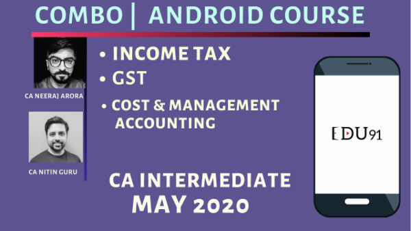CA Inter Cost & Management Accounting, Income Tax & GST for May 2020 | Mobile App cover