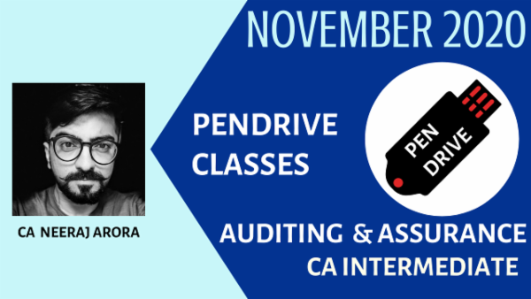 CA Inter Auditing and Assurance Pendrive Classes - Nov 2020 cover