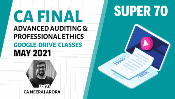 CA Final Advanced Auditing and Professional Ethics - Google Drive - May 2021 - Super 70 cover