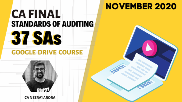 CA Final Standards of Auditing for November 2020 | Google Drive cover