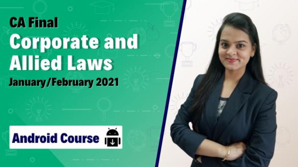 CA Final Corporate and Allied Laws Old Course Nov 2020 | Mobile App cover