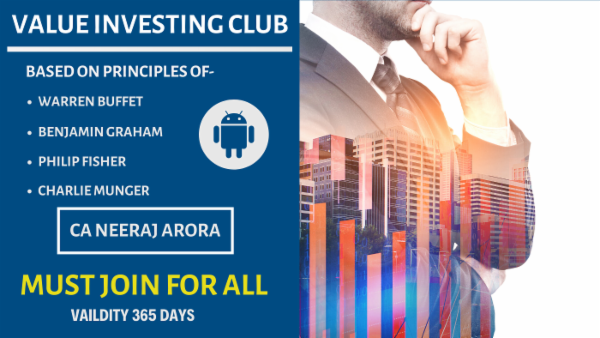 Value Investing Club By Neeraj Arora cover